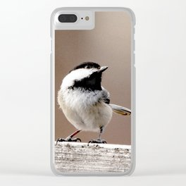 Chickadee #1 Clear iPhone Case