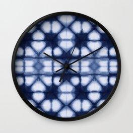 Shibori Ahi Blues Wall Clock