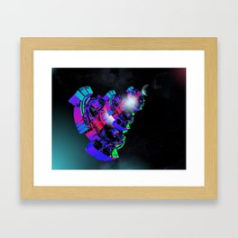 Space Floater Framed Art Print