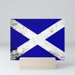 Scotish Flag Grunge Mini Art Print