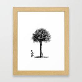 palm tree botanical no1 Framed Art Print