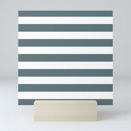 Saturday on Sunday Horizontal Stripes   Beautiful Interior Design Mini Art Print