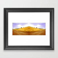 perfect hill Framed Art Print
