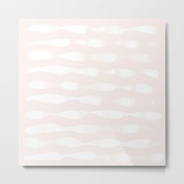 wavy lines soft Metal Print