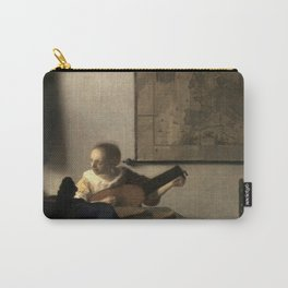 Vermeer,Woman with a Lute,Mujer con laúd, De luitspeelster Carry-All Pouch