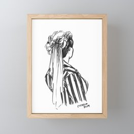 Hat Ribbons Framed Mini Art Print