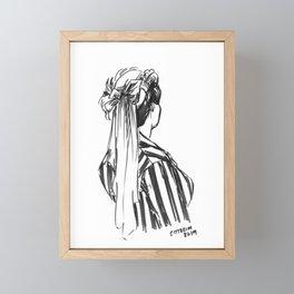 Hat Ribbons Framed Mini Art Print