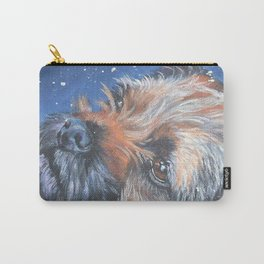 Border Terrier dog portrait art from an original painting by L.A.Shepard Carry-All Pouch