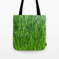 grass Tote Bags featuring grass by Кaterina Кalinich
