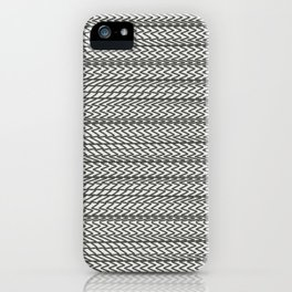 zigzag texture iPhone Case
