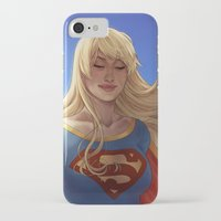 supergirl iPhone & iPod Cases featuring Supergirl by maltairs