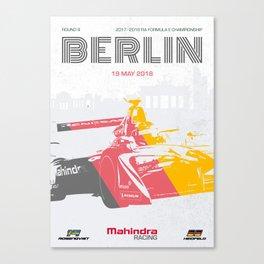 Mahindra Racing FIA Formula E Season 4 Berlin E-Prix Poster Canvas Print