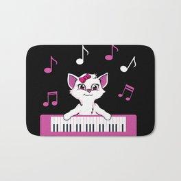 Keyboard Cat I Love Music Kitten Lovers Instrument Players Gift Bath Mat