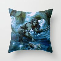 predator Throw Pillows featuring Predator by va-sily