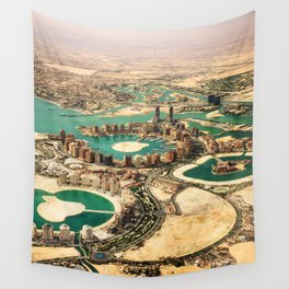 doha aerial view Wall Tapestry