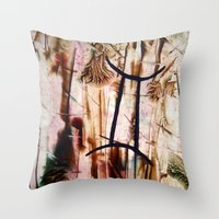 gemini Throw Pillows featuring Gemini  by Stina ART de Luna