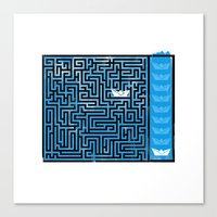 labyrinth Canvas Prints featuring Labyrinth by Stoian Hitrov - Sto