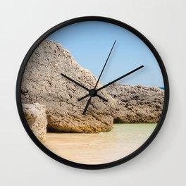 Arrabida Beach Portugal Wall Clock