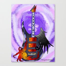 Keyblade Guitar #3 - One-Winged Angel Canvas Print