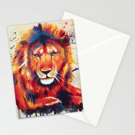 Quiet Ferocity - Original Lion Painting Stationery Cards