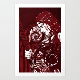 Zodiac Ares Art Print