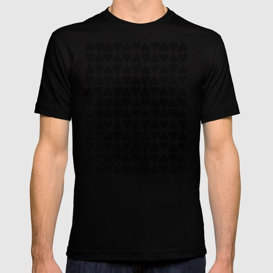 Diamond Hearts Repeat Black T-shirt