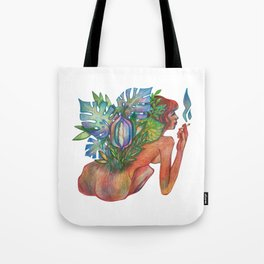 monstera dirl Tote Bag