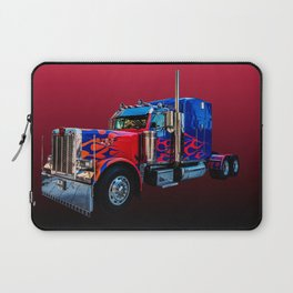 American Truck Red Laptop Sleeve