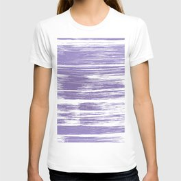 Modern abstract lilac lavender white watercolor brushstrokes T-shirt