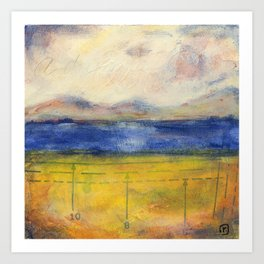Blue Lake No. 1 Art Print