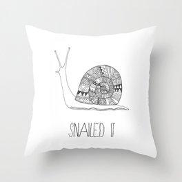 snailed it Throw Pillow