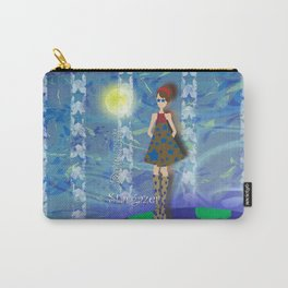 Girl on Top of the World with Starry Eyes Carry-All Pouch