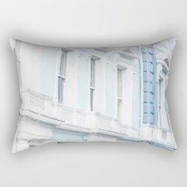Blue houses Rectangular Pillow