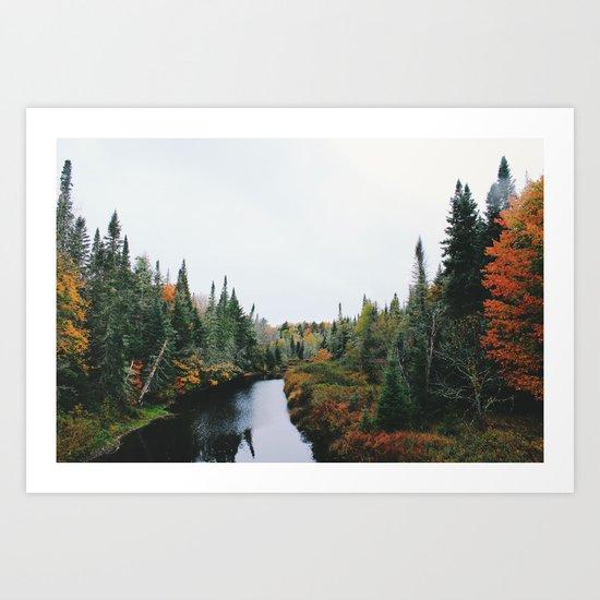 Forest creek II #society6#buyart Art Print