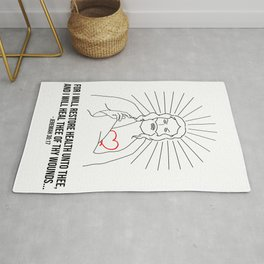For I Will Restore Health Rug