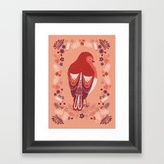 Petite Robin Red Breast Framed Art Print