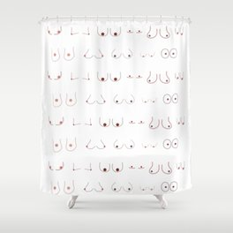Yup, they are boobs. Shower Curtain