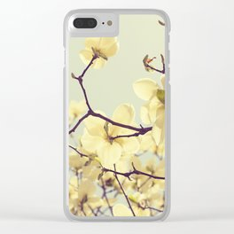 Magnolia Dream Clear iPhone Case