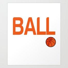 Graphic Basketball T-Shirt. Gift Ideas Art Print