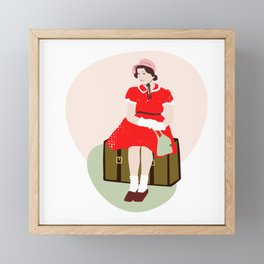 Girl In Red Framed Mini Art Print