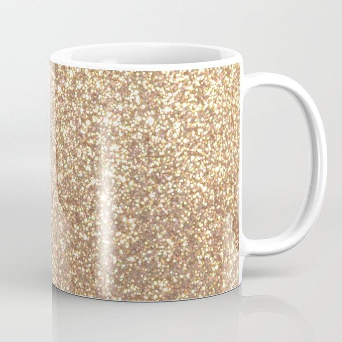 Copper Rose Gold Metallic Glitter Coffee Mug