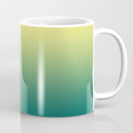 Yellow Lime Quetzal Green Ombre Gradient Pattern Coffee Mug