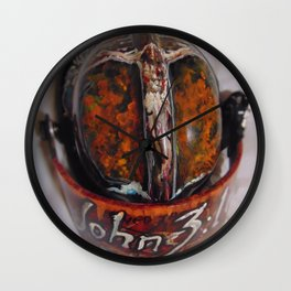 Christian Fire Fighter helmet Wall Clock