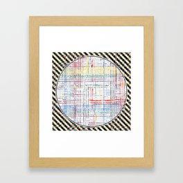 The System - line motif Framed Art Print