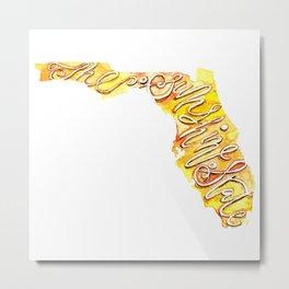 Florida – the Sunshine State Metal Print