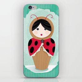 Ladybug Matryoshka iPhone Skin