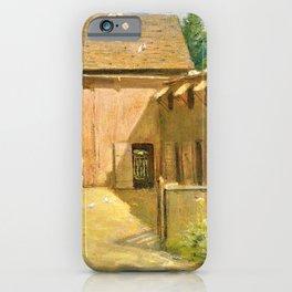 Julian Alden Weir - New England Barnyard - Digital Remastered Edition iPhone Case