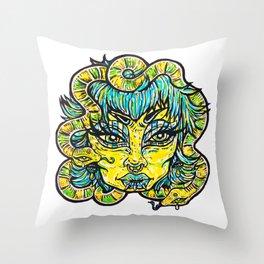 Twin Snakes Throw Pillow