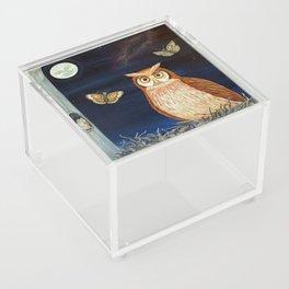 MNO Alphabet Owl Acrylic Box