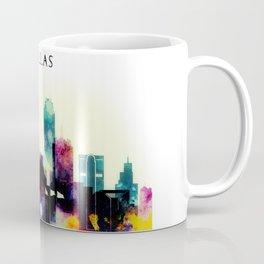 Dallas Texas City Skyline watercolor poster Coffee Mug